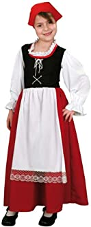 Disfraz de Pastora Aldeana 1-2 años: Amazon.es: Juguetes y juegos