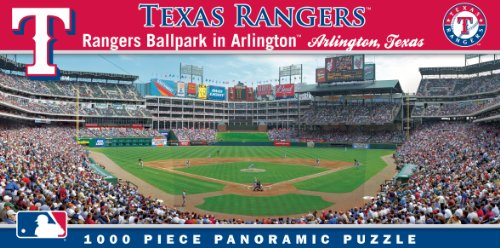 MasterPieces MLB Texas Rangers Stadium Panoramic Jigsaw Puzzle, (Exciting Puzzle Game)