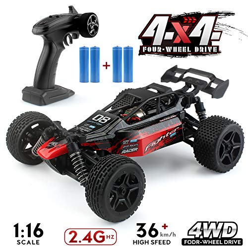 1:16 Remote Control Off Road Truck Hobby Grade, 2.4G 4WD Remote Control Off Road Truck , 36km/h High-Speed RC Cars G171, RC Electronic Monster Hobby Truck Buggy for Kids Adults