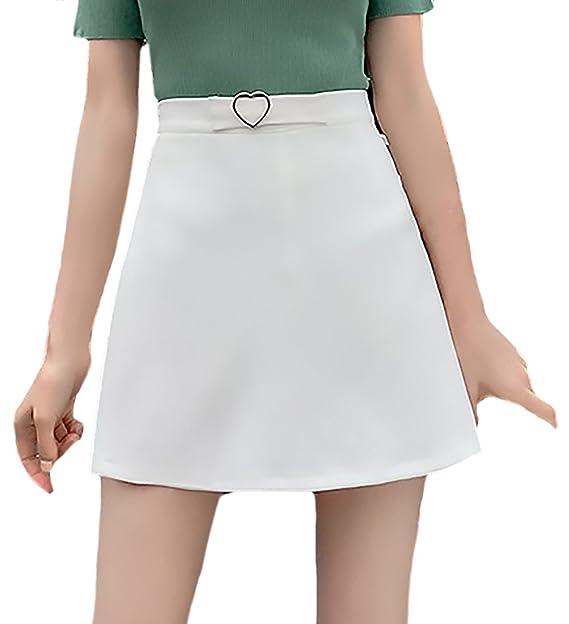192c1e239 HX fashion Faldas Mujer Verano Elegantes Color Sólido Fashionista ...