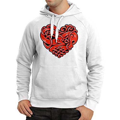 """Hoodie """"Stylish I love you gifts - Valentine day"""" (Large White Multi Color)"""