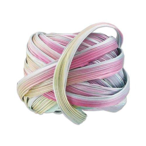 Silk ribbon Shibori Silver Lining Borealis x10cm N/A