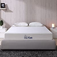 LazyCat 8' CertiPUR-US certified Natural Green Tea Infused Memory Foam Mattress with Ultra Soft Washable Cover,Queen