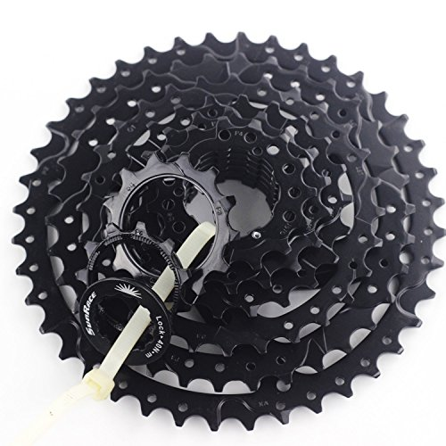 - SUNRACE 8 Speed MTB Cassette 11-40T Wide Ratio For SHIMANO SRAM 40T (Black)