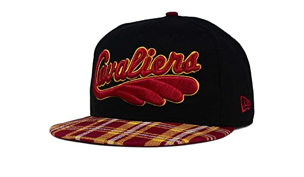 76fe90af273 Amazon.com   New Era Cleveland Cavaliers Snapback Adjustable One Size Fits  All Hat NBA Authentic Snap Back HWC Tri-All Print Cap - OSFA Black w  Plaid  Bill ...