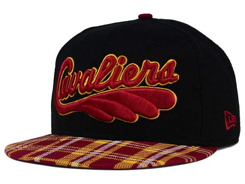 New Era Cleveland Cavaliers Snapback Adjustable One Size Fits All Hat NBA Authentic Snap Back HWC Tri-All Print Cap - OSFA Black w/ Plaid (Plaid New Era)