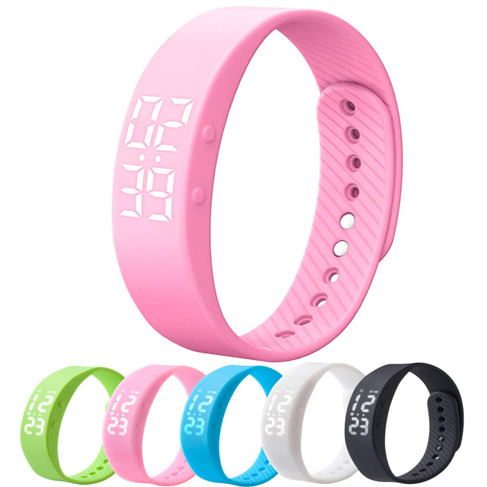 MIYA Bracelet Fitness Tracker Watch, Non-Bluetooth Pedometer with Step Calories Counter Sleep Monitor Distance Time/Date (Simple,No app,No Phone Need) for Walking Running Kids Men Women