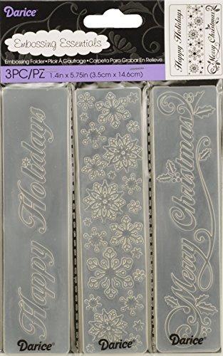 Darice 3/Pack Seasonal Theme Embossing Folders by Darice