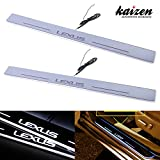 Kaizen Lexus IS Illuminated Door Sill Entry Guard LED Dynamic Moving Light Scuff Plate Protector For 2012 2013 2014 2015 Lexus IS