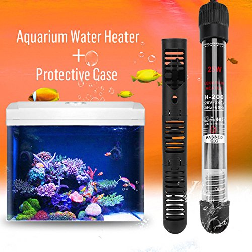 Polar Bear's Aquarium HOT SALE! EU Plug Water Heater+Protective Case For Aquarium Fish Tank 25 50 100 200 300W (#0, Black)