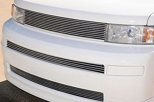 (Grillcraft TOY1851-BAO BG Series Polished Aluminum Mid & Lower 2pc Billet Grill Grille Insert for Scion XB)