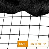 Bird Net - 25' x 50' Garden Netting with 2.4'...