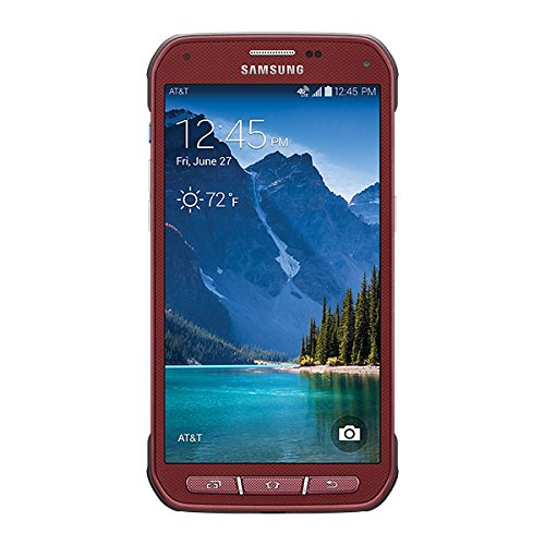 Samsung Galaxy S5 Active G870a 16GB Unlocked GSM Extremely Durable Smartphone w/ 16MP Camera – Ruby Red