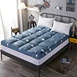 Lovehouse Tatami Floor mat Sleeping,Thick Foldable Feather Velvet Mattress Topper Japanese Bed mat,Breathable Futon Mattress-Tree 90x200cm(35x79inch)