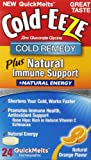 Cold-Eeze Immune Support Plus Energy Quickmelt Tablets, Natural Orange Flavor, 24 Count