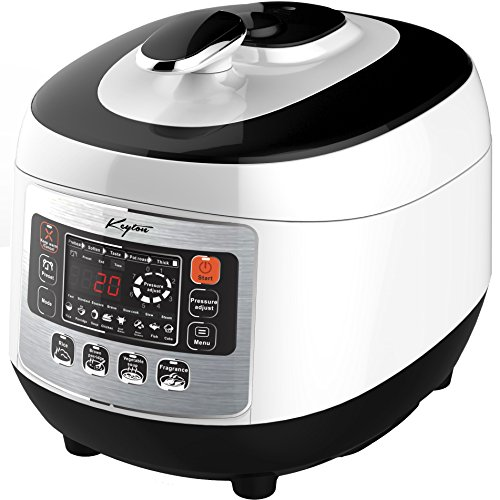 Pressure Cooker with Digital Display, 5 Liter - 8 in 1 Multiple Cooking Options - Includes Measuring...