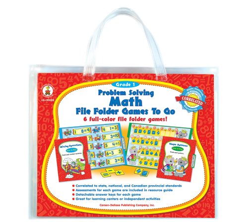 - Problem Solving Math File Folder Games to Go, Grade 1