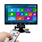 PONPY 9'' Ultra Thin 16:9 HD 800x480 TFT LCD Color Display Touch Button Monitor Screen with AV HDMI VGA Video Input for Raspberry Pi 3B+/Mini PC Display/Home Security/CCTV Camera