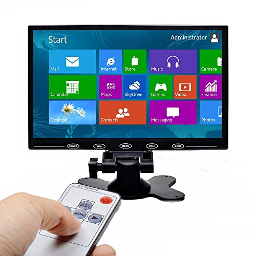 PONPY 9'' Ultra Thin 16:9 HD 800x480 TFT LCD Color Display Touch Button Monitor Screen with AV HDMI VGA Video Input for Raspberry Pi 3B+/Mini PC Display/Home Security/CCTV Camera by PONPY (Image #9)