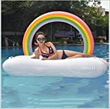 large animal blower - Original Large 240Cm Inflatable Rainbow Clouds Floating Bed Water Inflatable Bed Rainbow Arch Floating Pad Floating Row
