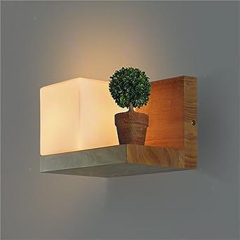 LED Moderna Lámpara de Pared Creativo cubos de azúcar de roble escalera lámpara de pared dormitorio lámpara de noche cálida lámpara de pared decorativaLED Lámpara de pared。: Amazon.es: Iluminación