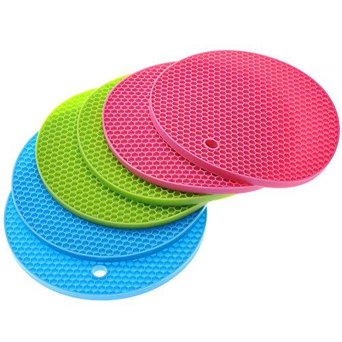 (Super Value Set of 6) Smartbargain Silicone Trivets / Pot Holder / Coaster / Placemat / Hot Pad (Three color)