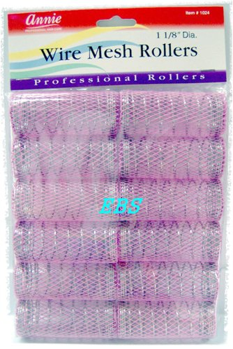 Amazon.com : wire mesh rollers wire mesh hair roller, light purple ...