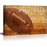 wall26 - Rustic Football - Football Vintage Wood Grain - Canvas Art Home Decor - 16x24 inches
