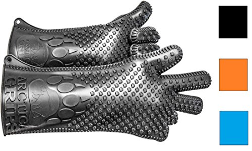 ARCTICA GRIPS New Waterproof Silicone BBQ Grilling Cooking Gloves 14''- Long for any Size Hand (gray) 100% $ BACK!!!PREMIUM QUALITY GUARANTEED!!! by Arctica Grips