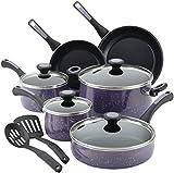 Paula Deen 12 Piece Riverbend Aluminum Nonstick Cookware Set, Lavender Speckle