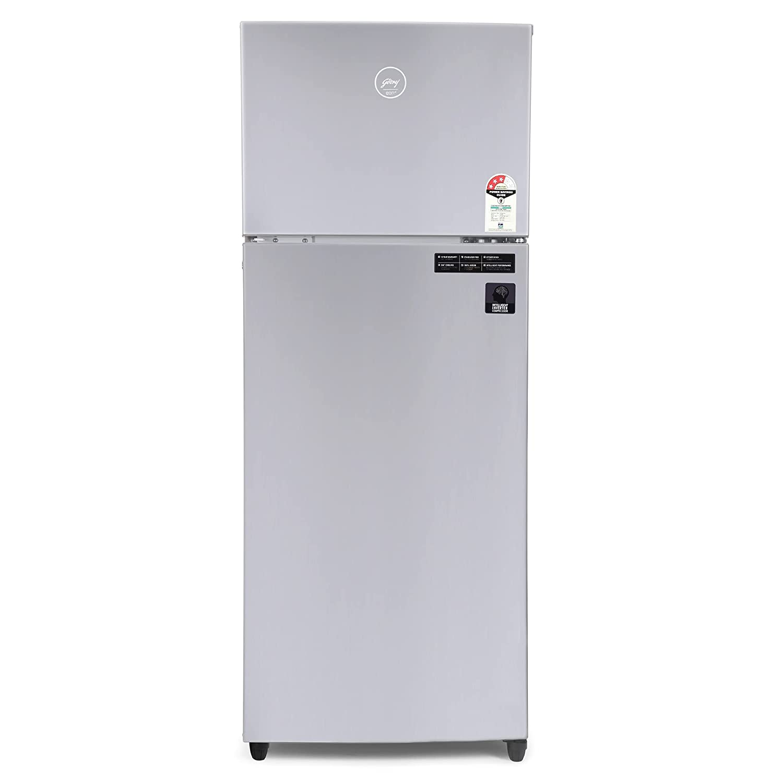 Godrej 265 L 3 Star Inverter Frost-Free Double Door Refrigerator (RF EON 265C 35 RCI ST RH, Steel Rush), Silver