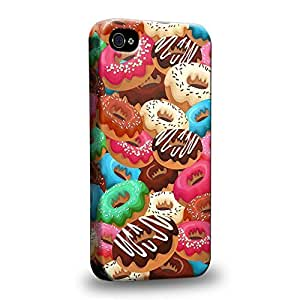 Case88 Premium Designs Art Sweet Donut Assorted Wonderland A Protective Snap-on Hard Back Case Cover for Apple iPhone 4 4s by icecream design
