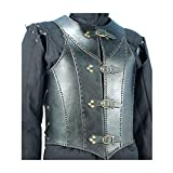 Armor Venue Veterans Leather Body Armour Black One Size