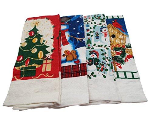 Snowman Printed Kitchen Towels