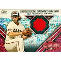 $28 » Madison Bumgarner baseball card player worn jersey patch (San Francisco Giants Madbum) 2015 Topps All Star Refractor #ASCRMB - MLB Game…