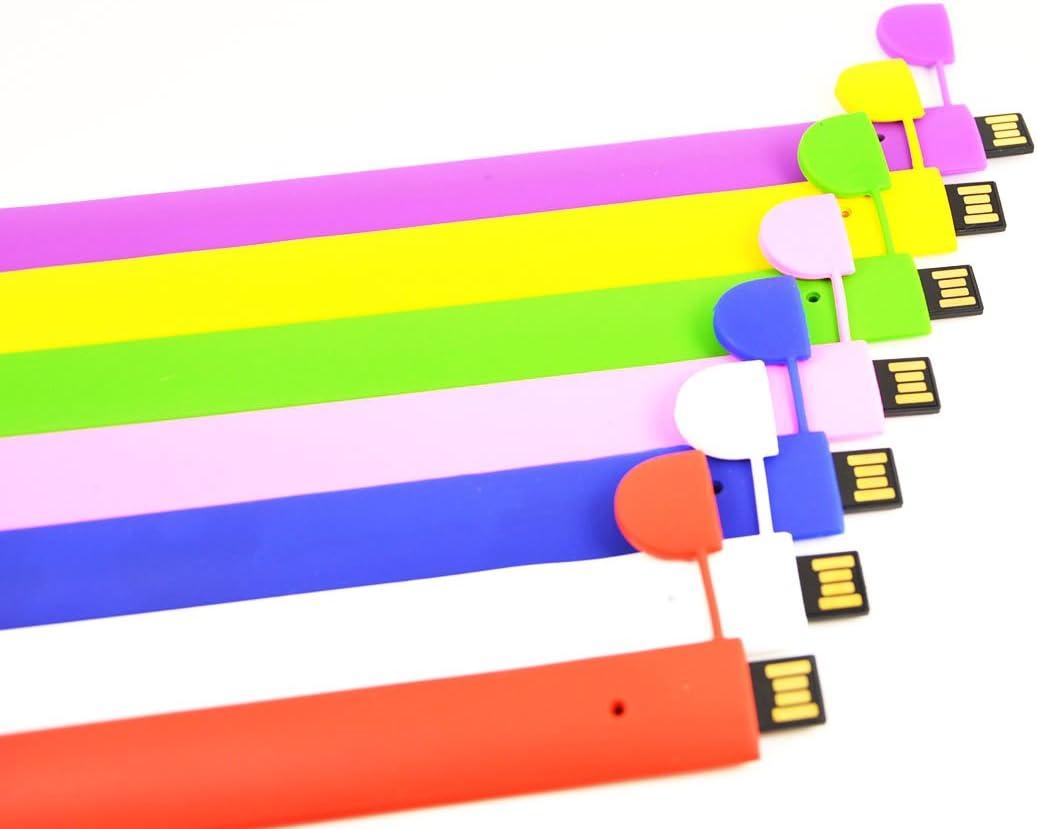 Multicolor Bracelet Pendrives Jump Drive Portable Thumb Drive Zip Drive by FEBNISCTE 32GB Pack of 7 Bulk USB Flash Drives Memory Stick