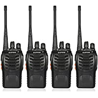 BaoFeng 16CH FM UHF 400-470MHz Talkie Walkie Transceiver 2-way Radio Portable Handheld Interphone Long Distance 1500mah Battery Flashlight(4PCS)