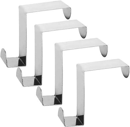 Coloque sobre la puerta o el cajón del armario de la cocina:reversible over door hooks, un lado (4.5