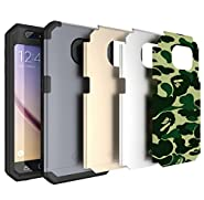 Galaxy S6 Case, TOTU S6 Case Water Resistant Full-body Rugged Protective Case with Built-in Screen Protector for Samsung Galaxy S6 [Gray/Silver/Gold/Camouflage Interchangeable Back Plate Included]