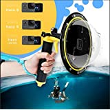 """AFAITH TELESIN Gopro Dome Port GoPro Camera Accessories, Underwater 6"""" GoPro Dome Port Cover Case with Waterproof Cover Case + Floating Bobber Handle + Trigger for GoPro Hero 6 & Hero 5"""