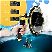 TELESIN Gopro Dome Port, Custodia impermeabile 6 pollici con galleggiante Impugnatura compatibile con GoPro Hero 6/Hero 5 TM051