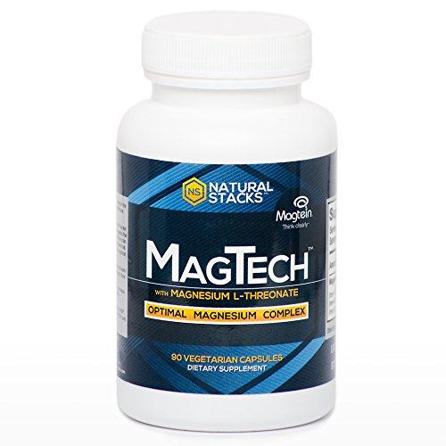 Supplément Magtech optimale de magnésium avec L-thréonate, Taurate, et Glycinate | Utilisé pour améliorer la mémoire, la cognition Augmenter et améliorer la qualité du sommeil