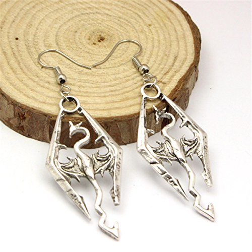 Inspired Earrings Dinosaur Scrolls Vintage product image