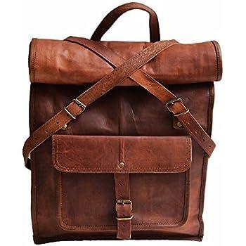 Amazon.com: Vintage Crafts Leather Backpack College Backpack ...