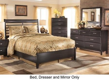 Ashley Kira 3-Piece Bedroom Set with Queen Size Panel Bed (Kira Panel Bed)