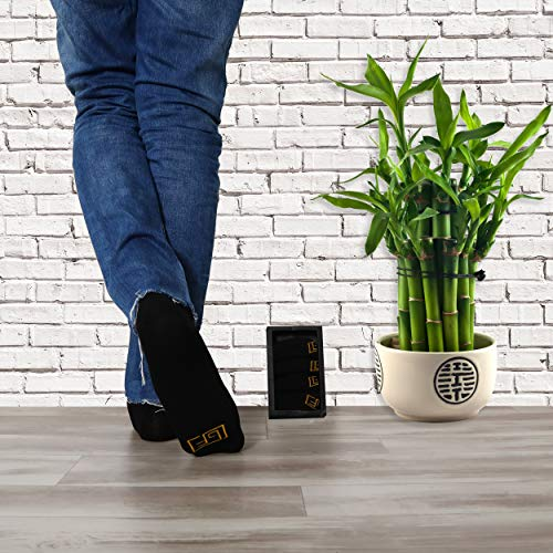 Golden Feel Bamboo Men Socks (Black), Medium
