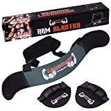 Arm Blaster - Perfect Builder for Muscle Arms - Bomber Biceps Isolator and Triceps Curls - Weightlifting Gym Grip Pads - Video and eBook with 20 Exercises for Bicep and Tricep by Legendary Workout