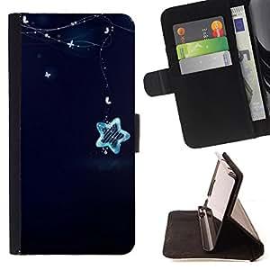 Devil Case- Estilo PU billetera de cuero del soporte del tir¨®n [solapa de cierre] Cubierta FOR Samsung Galaxy Note 4 SM-N910 N910 IV- Super Stars stars