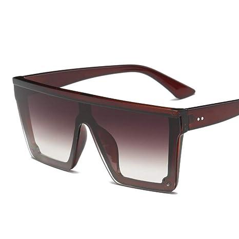 Yangjing-hl Gafas de Sol para Mujer de Gran tamaño Gafas de ...