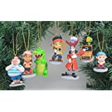 Disney's Jake and the Neverland Pirates Ornament Set - Limited Availability - (7) Ornaments Included